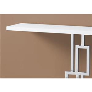 Monarch 47.25-in x 31.75-in White Composite Accent Table