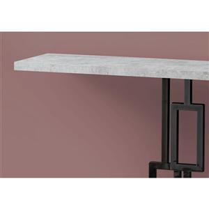 Monarch 47.25-in x 31.75-in Gray Composite Accent Table
