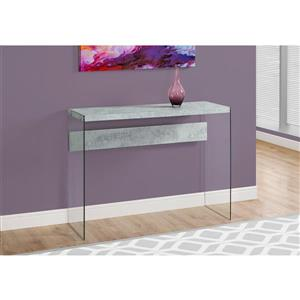 Monarch 44-in x 32-in Gray Accent Table
