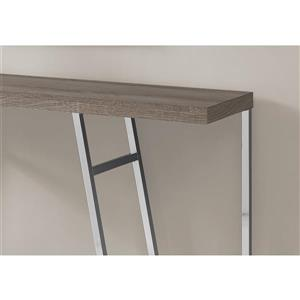 Monarch 47.25-in x 32-in Brown Accent Table