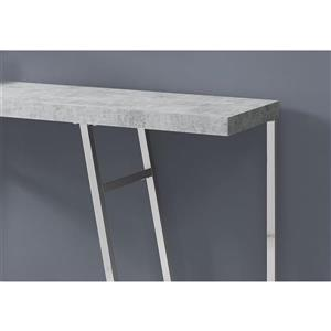 Monarch 47.25-in x 32-in Gray Accent Table