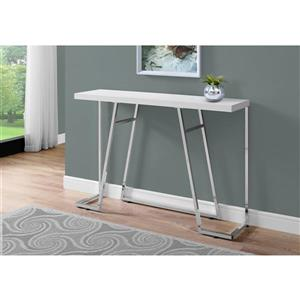 Monarch 47.25-in x 32-in White Composite Accent Table