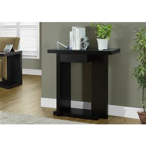 Monarch 31.25-in x 33.25-in Composite Brown Accent Table