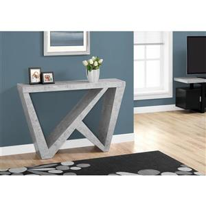 Monarch 47.25-in x 32-in Gray Composite Accent Table