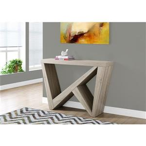 Monarch 47.25-in x 32-in Dark Taupe Accent Table