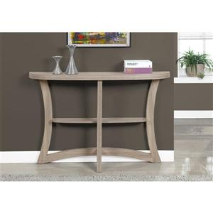 Monarch 32-in  Composite Dark Taupe Accent Table