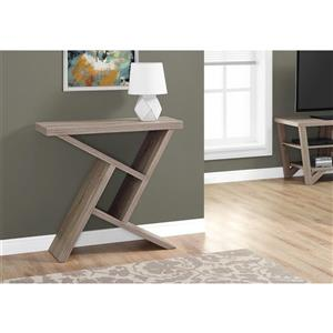 Monarch 35.5-in x 34-in Brown Composite Accent Table