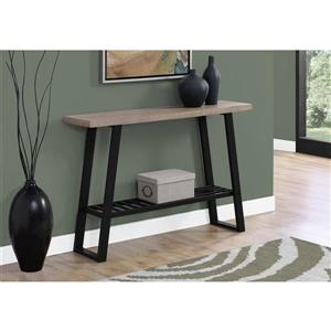 Monarch 47.25-in x 32-in Brown Composite Accent Table