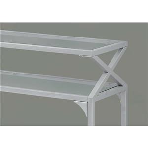 Monarch 42-in Silver Glass Accent Table