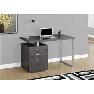 Monarch Specialties Monarch 47.25-In x 30.00-In  Grey Wood Grain Look Computer Desk