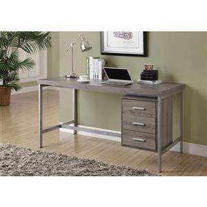 Monarch  60-in x 31-in Dark Taupe Office Desk