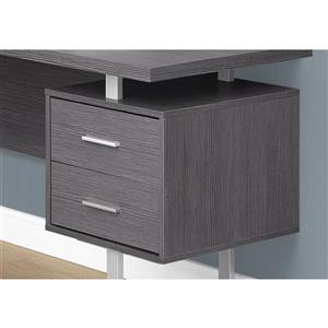Monarch  71-in x 30-in Grey Wood-Look L-Shaped Computer Desk