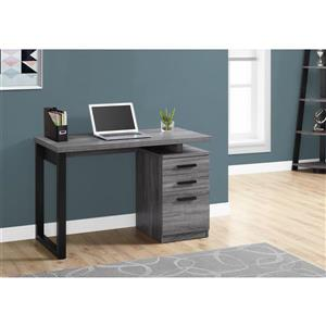 Monarch 47.25-In x 30.00-In Grey wood-look Computer Desk