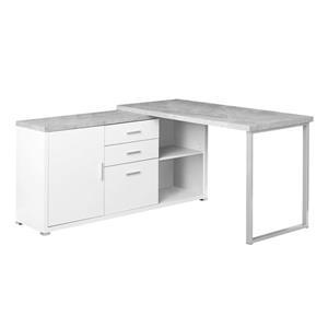 Monarch  57-in x 29.75-in White L-Shaped Computer Desk