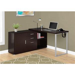 Monarch 57.00-In x 29.75-In Dark Brown Computer Desk