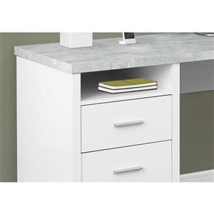 Monarch  White L-Shaped Computer Desk
