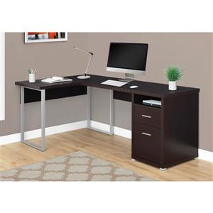 Monarch  Cuppuccino L-Shaped Computer Desk