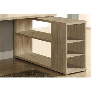 Monarch  6-in x 29-in Natural Reclaimed Left or Right Facing Corner Desk