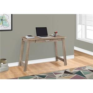 Monarch 42.00-In x 29.25-In Taupe reclaimed wood-look Computer Desk