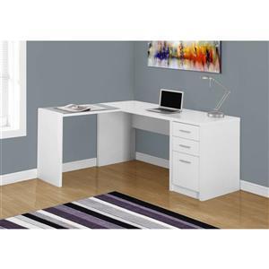 Monarch  60-in x 30-in White L-Shaped Computer Desk