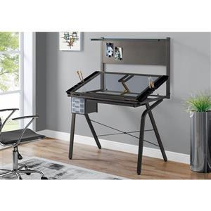 Monarch 40.75-In x 55.75-In Grey Computer Desk