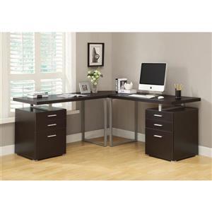 Monarch 47.25-In x 30.00-In Dark Brown Computer Desk