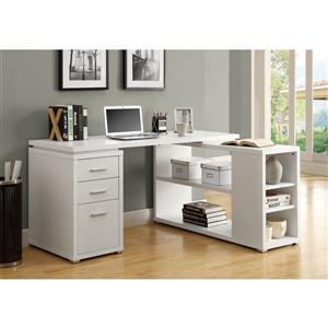 Monarch  60-in x 29-in White Left or Right Facing Corner Desk