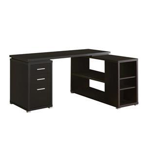 Monarch  60-in x 29-in Cappuccino Left or Right Facing Corner Desk