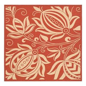 Safavieh CY2961-3707 Courtyard Area Rug, Red / Natural,CY296