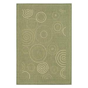 Safavieh CY1906-1E06 Courtyard Indoor/Outdoor Area Rug, Oliv