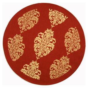 Safavieh CY2720-3707 Courtyard Indoor/Outdoor Area Rug, Red,