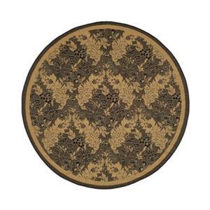 Safavieh CY6582-46 Courtyard Indoor/Outdoor Area Rug, Black,