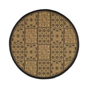 Safavieh CY6947-46 Courtyard Indoor/Outdoor Area Rug, Black,