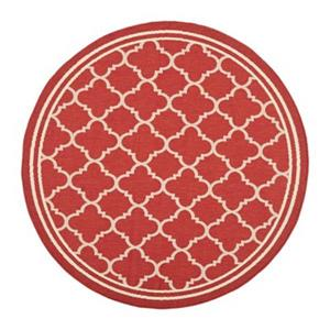 Safavieh CY6918-248 Courtyard Indoor/Outdoor Area Rug, Red/B