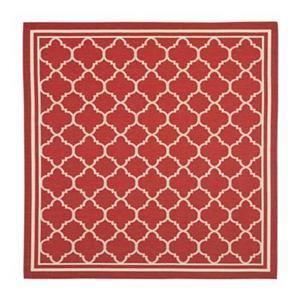 Safavieh CY6918-248 Courtyard Indoor/Outdoor Area Rug, Red/B