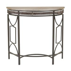 Safavieh Rosalie Half Moon Copper Metal Console Table