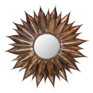 Safavieh Sunflower 28.30-in x 28.30-in Copper Mirror