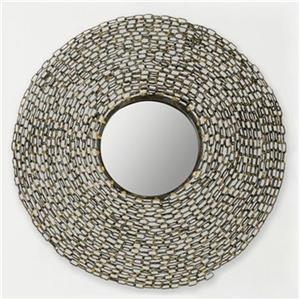 Safavieh Jeweled Chain 24-in x 24-in Natural Iron Mirror