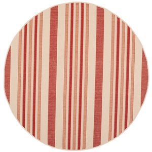Safavieh CY7062-238A21 Courtyard Beige and Red Area Rug,CY70