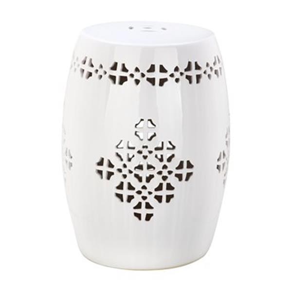 Outstanding Safavieh Quatrefoil 18 In Antique White Ceramic Garden Stool Machost Co Dining Chair Design Ideas Machostcouk