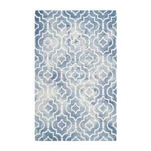 Dip Dye Hand-Tufted Wool Blue and Ivory Area Rug