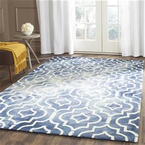 Dip Dye Hand-Tufted Wool Navy and Ivory Area Rug