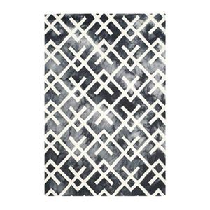 Dip Dye Hand-Tufted Wool Graphite and Ivory Area Rug