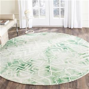 Dip Dye Hand-Tufted Wool Green and Ivory Area Rug