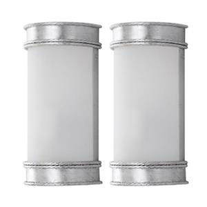 Safavieh 12-in Silver Florence Wall Sconce (Set of 2)