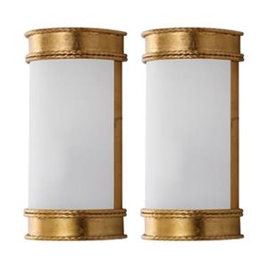 Safavieh 12-in Gold Florence Wall Sconce (Set of 2)
