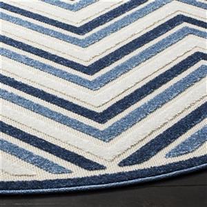 Safavieh Cream and Blue Cottage Indoor/Outdoor Rug,COT935K-7