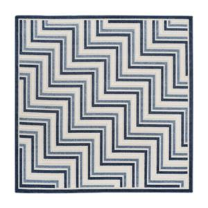 Safavieh Cream and Blue Cottage Indoor/Outdoor Rug,COT935K-7