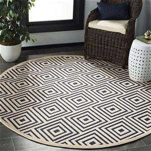 Safavieh COT941A Navy and Creme Cottage Indoor/Outdoor Rug,C