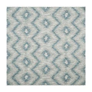 Grey and Blue Courtyard Indoor/Outdoor Rug